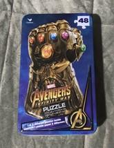 Marvel Avengers 48 Piece Infinity War Gauntlet Surprise Puzzle in Tin En... - $9.99