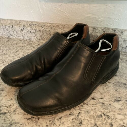 Primary image for COLE HAAN casual dress Driving Loafer Slip On Black Leather Mens Sz 12