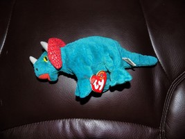 TY HORNSLY THE TRICERATOPS BEANIE BABY RETIRED 2000 LAST ONE - $24.00