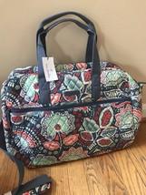 Vera Bradley Nomadic Floral Medium Traveler Bag Weekender Carry On Tote Nwt - $77.22