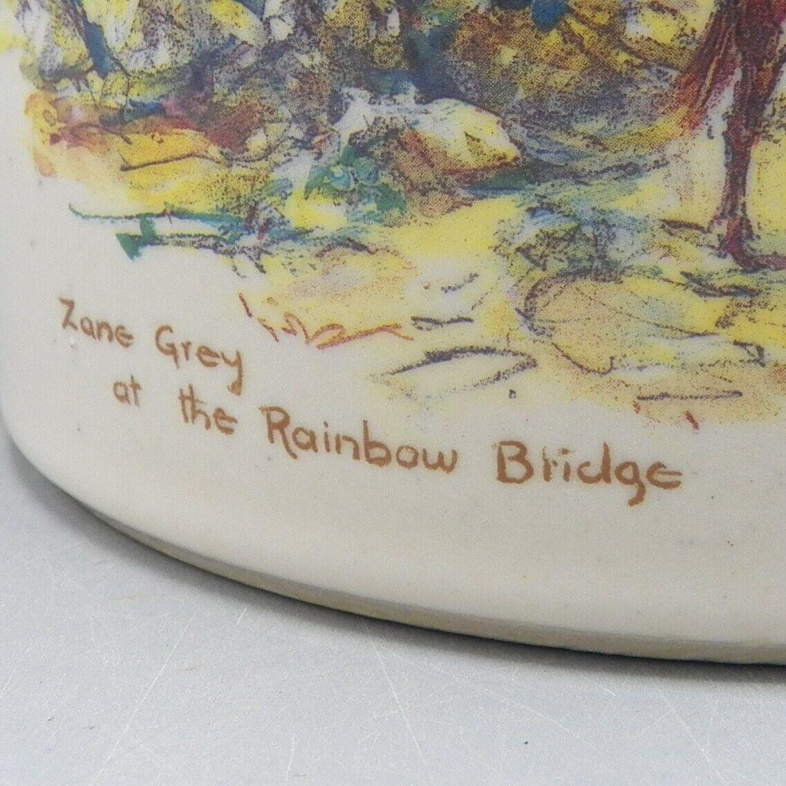 Zanesville Stoneware Zane Grey At Rainbow Bridge Leslie Cope Vase Pot Pottery image 3