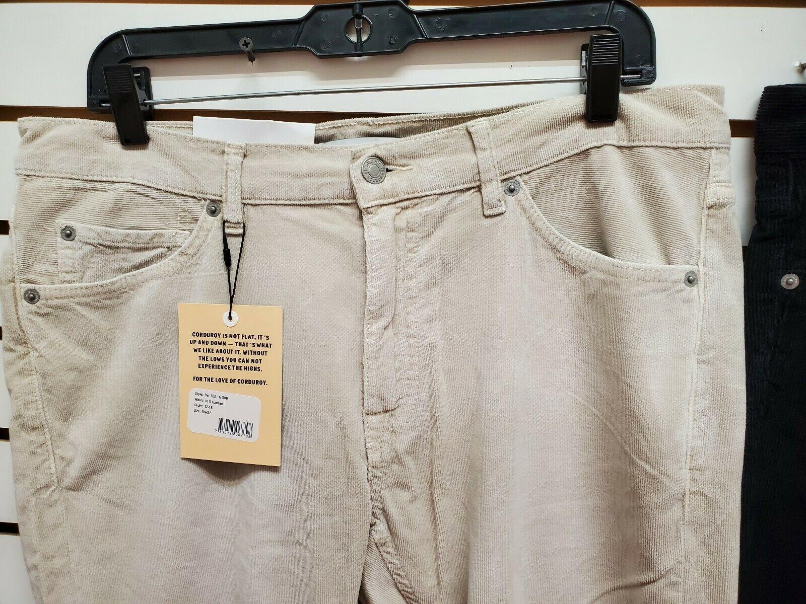 the cords &co men's 2 black & beige 5 pock hi waist straight fit  nwt 34x32.