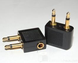 2 x Headphones Airplane Adapter 3,5mm Jack Airplane Adapter Mono Jack Plug - $5.83
