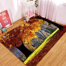 3D Autumn Tree 004 Non Slip Rug Mat Quality Elegant Photo Carpet US Carly - $93.49+