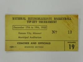 Vtg 1953 National Intercollegiate Basketball Tip-Off Tournament Full Tic... - $59.39