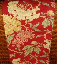 """Pottery Barn Vintage Red Floral 24"""" X 24"""" Square Decorative Pillow Cover EUC - $29.67"""