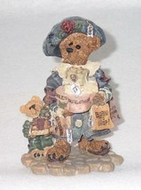 Boyd Bearstone Resin Bears 1997 Grace and Jonathan Born To Shop Figurine... - $8.56