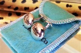 TIFFANY & CO. Cuff Links ~ Solid Silver ~ Heavy ~ Button Style ~ Rare ~S... - $374.97