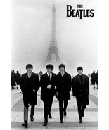 The Beatles Poster Iconic Photo Walking in Paris Eiffel Tower Poster, 24x36 - $19.00