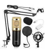 BM800 Pro Condenser Microphone Kit Suspension Boom Arm Stand with Filters - $39.99