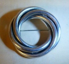 Vintage 1950s Sterling Silver Triple Circle Pin by Michele 23 grams - $75.00