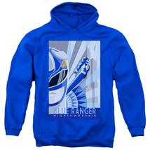 Power Rangers - Blue Ranger Deco Adult Pull Over Hoodie Officially Licensed Appa - $34.99+