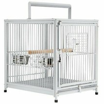 PawHut 18'x 14' X 22' Metal Portable Heavy Duty Travel Bird Cage With H... - £90.25 GBP