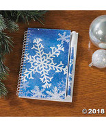 Snowflake Spiral Notepads with Pen - $22.99