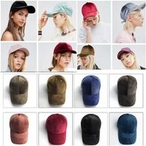 Velvet Women Hat Velvet Women Baseball Cap Fashion Hat New 9 Colors  - $13.97