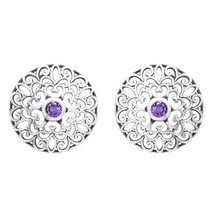 Round Cut Amethyst Filigree Cut Multi Heart 25 MM Hollow Gorgeous Women ... - $23.12