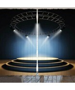 Curtains Center Stage Lights Print Backdrop 8270 - $38.09