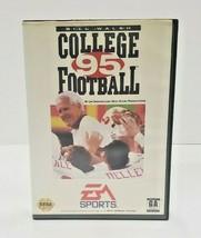 Bill Walsh College Football 95 (Sega Genesis, 1994) Complete in Box - CIB - $7.70
