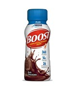 Boost Plus Nutritional Drink, Rich Chocolate, 8 Ounce Bottle Pack of 24 ... - $38.79