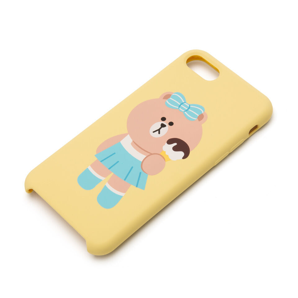LINE Friends CHOCO Silicone Case iPhone 7/7Plus Mobile Skin Phone Cover Tracking