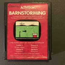 ATARI 2600 Barnstorming tested video game cartridge Activision 1980 stunt plane - $2.99