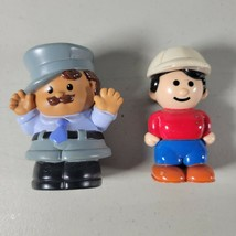 Fisher Price Little People Police Officer Crossing Guide & Construction Man VTG - $17.32