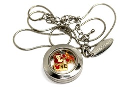 Bracciale Disney Round Locket Necklace Floating Little Mermaid Floating Charms - $24.74