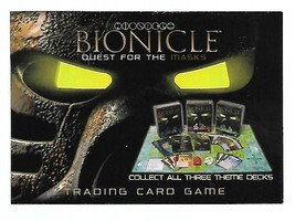 Lego Bionicle Quest for The Masks Promo Trading Card Game 2001 - $4.50