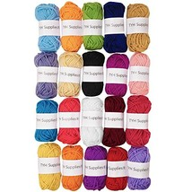TYH Supplies Acrylic Yarn Assorted Colors Skeins - Perfect for Mini Knit... - $14.96