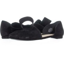 Nine West Shoreside Cutout Bow Flats 220, Black Suede, 9 US - $31.67