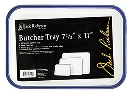 Jack Richeson Butcher Tray Palette, 7 x 11 in, Porcelain On Steel, White... - $15.80