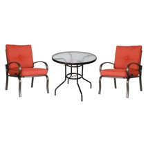 3PC Patio Bistro Set Outdoor Garden Cafe Seat Furniture Set Glass Round ... - $199.99+