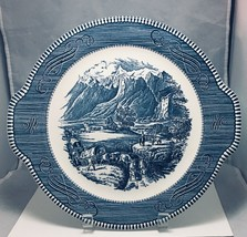 Currier and Ives The Rocky Mountains Serving platter by Royal made in U.... - $10.84