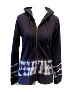 Make & Model Tie Dye Full Zip Knit Hoodie Jacket  ~ Small Navy & White N... - $26.05