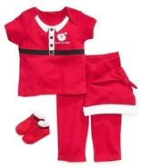 NEW Boys First Impressions 0-6 or 6-12 Months Christmas Santa 4 Piece Set  - £7.24 GBP
