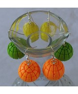 Handcrafted Paintball Foam-Shot Projectile Balls Games Earrings New Set... - $9.99