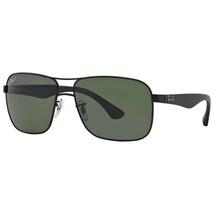 Ray Ban RB3516 006/9A 59 Black Frame Green Lens Polarized Sunglasses - $118.78