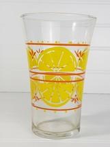 Vintage Libbey Citrus Lemon Slices Flare Top Glass, Retro Mid-Century Ch... - $5.94