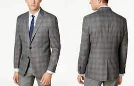 Lauren Ralph Lauren Men's Classic-Fit Gray Plaid Ultraflex Sport Coat, 40 L,$295 - $138.59