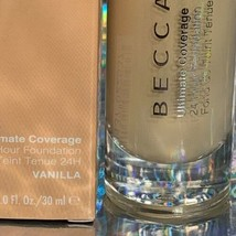 NEW IN BOX BECCA Uultimate Coverage 24 Hour Foundation 30mL VANILLA image 2