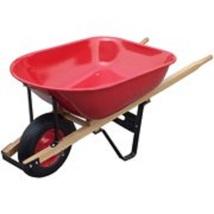 Tray Wheelbarrow Steel with Wood Handles 6 Cubic Feet 20 Gauge Garden Ba... - $54.46