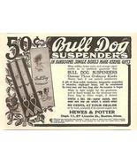 Bulldog Displays Bull Dog Suspenders Christmas Bulldog 1908 AD - $14.99