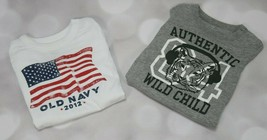 Lot of 2 Infants Old Navy Short Sleeve Tees size 18-24M - $1.00