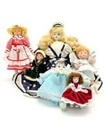 Lot of 6 Dolls of Various Sizes Style and Dresses - $54.44