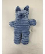 Jellycat Jelly Kitten Blue Bear Plush Corduroy Baby Rattle Soft Stuffed ... - $9.89