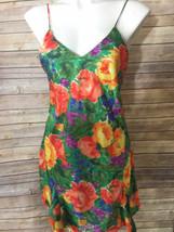 Victorias Secret Flower Green Floral Nightie Night Gown M  Gold Label Vi... - $26.72
