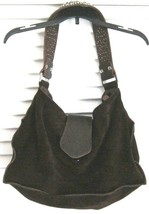Tylie Malibu Bag Large Suede Hobo In Brown w/ Crystal Studded Strap  - $102.17