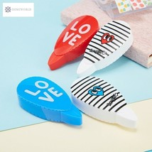 2 pcs/pair Love Heart Correction Tape Material Escolar Kawaii Stationery... - $4.26