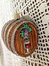 Old World Christmas Ornament Blown Glass Wine Barrel New w/Tags - $12.82