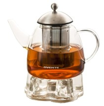 Ovente Glass Teapot  with Stainless Steel Mesh Filter Heat Tempered - $32.66+